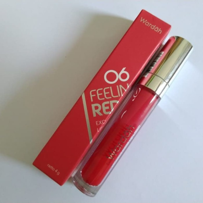 Wardah Exclusive Matte Lip Cream 06 FEELING RED