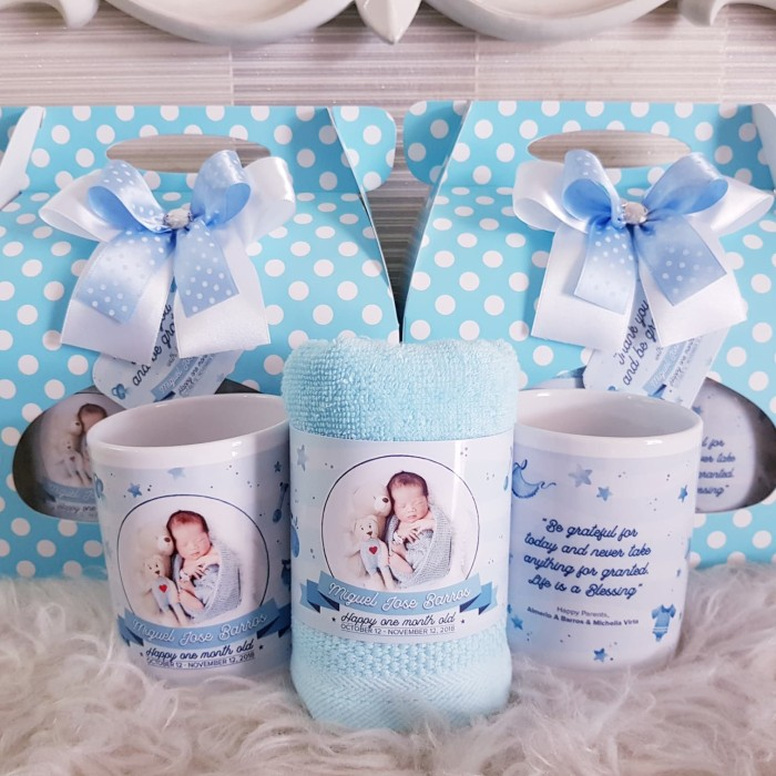 Jual Souvenir Mug Handuk Custom Souvenir Ultah Baby One Month Hampers Baby Jakarta Barat Dd Hamper S Tokopedia