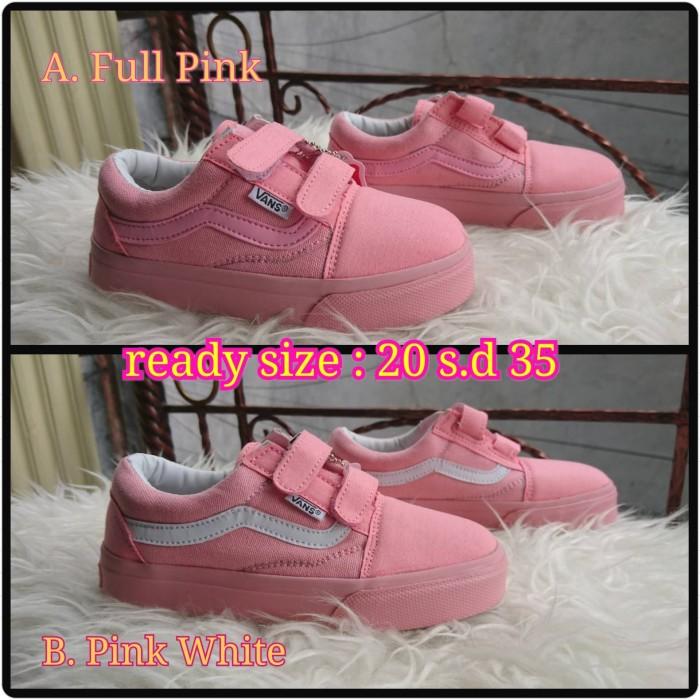 Jual Sepatu Vans Oldskool Pink White Kids. ( Sneakers santai   kado ... f55789a207