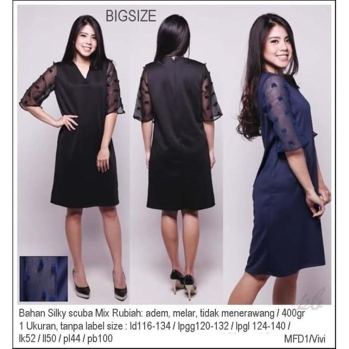 Murah Vivi Jumbo Dress Bigsize Terusan Big Size Dress Ukuran