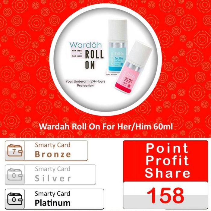 Wardah Roll On For Her/Him 60ml