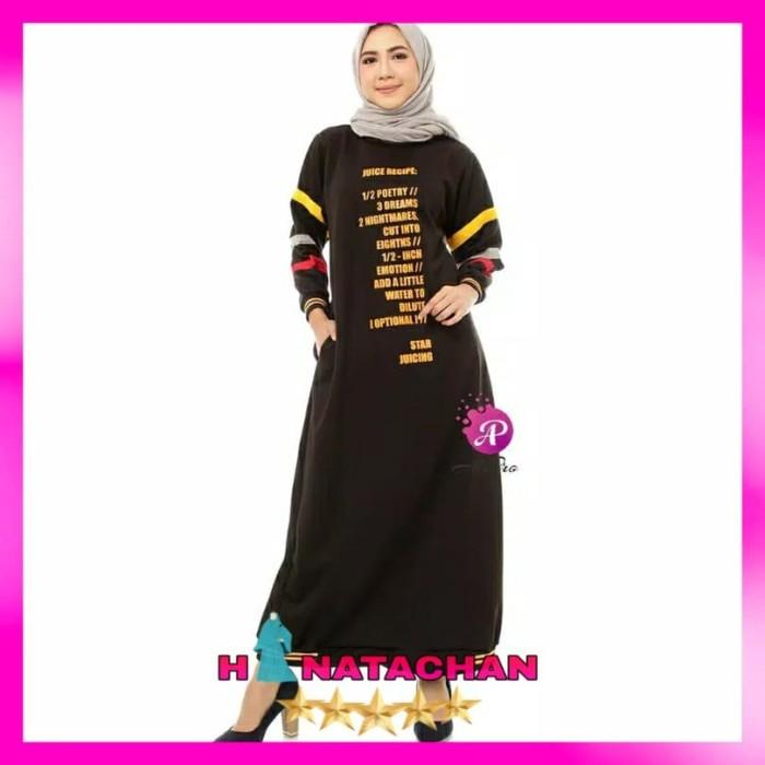 Jual Baju Gamis Wanita Remaja Terbaru Combed Maxi Dress Kasual
