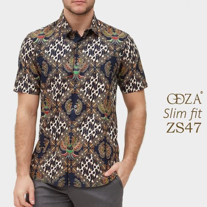 Baju batik / kemeja modern pria / baju pendek / atasan batik ob470