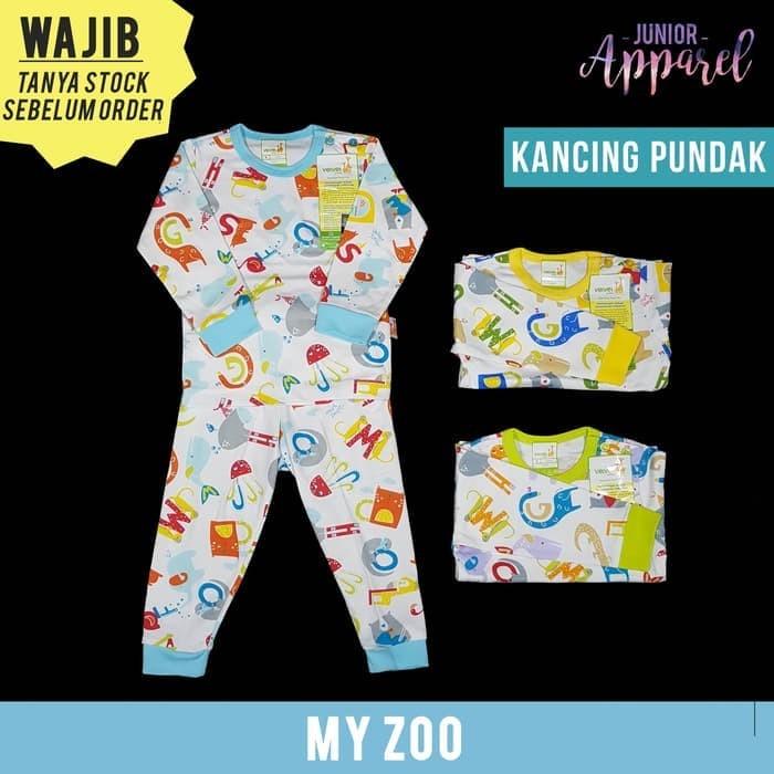 Velvet Junior LB Setelan Panjang Baju Tidur Piyama Bayi Motif - LB I