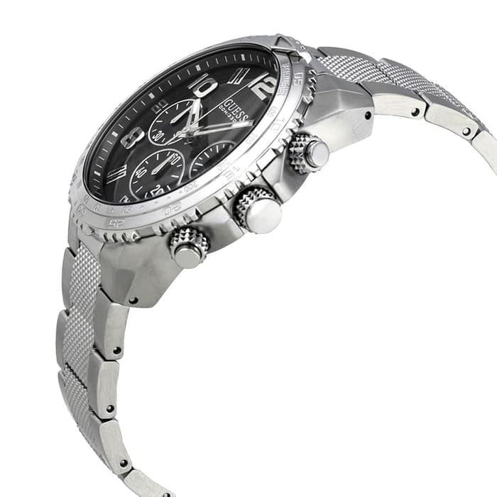 GUESS W0598G2 Velocity - Jam Tangan Pria - Silver
