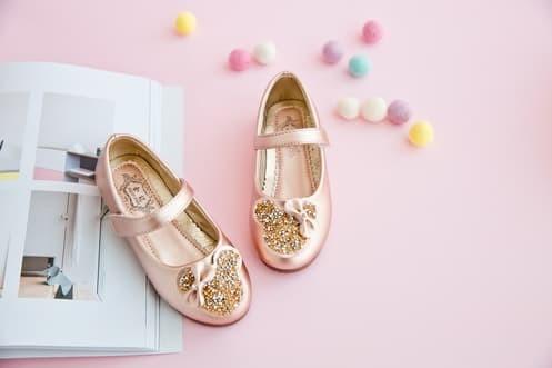 Foto Produk sepatu pesta anak perempuan import mickey gold dari Butik 85