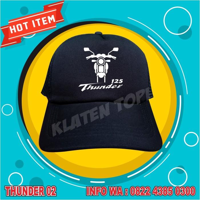 Jual Topi thunder 02 model trucker jaring belakang. Sablon Kuat ... 2fd210d1eb