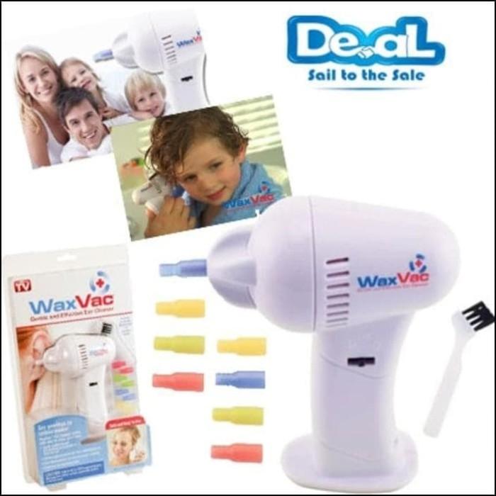 WAX VAC Electric Ear Wax Vacuum Removal / Alat Pembersih Telinga-White