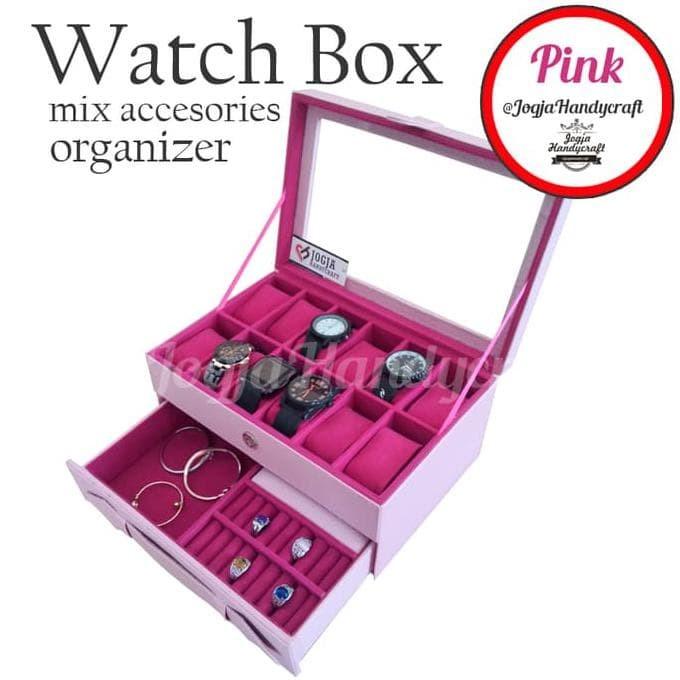 Jual Dijual Grade Ori Watch Box   Kotak Tempat Jam Tangan Isi 12 ... 7686c90faa