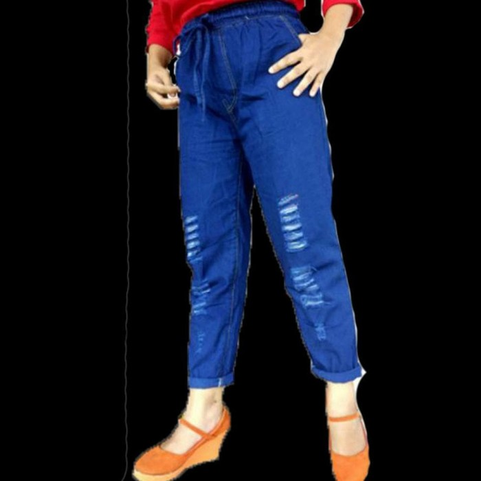 2c0d61d1a66 Jual Terpopuler Celana Boyfriend Jeans Ripped - Celana Baggy Jeans ...