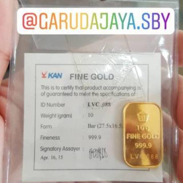 Jual Emas Batangan Logam Mulia Antam Pecahan 10 Gram Toko Jaya