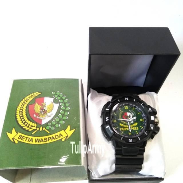 Jam tangan Army sporty logo Paspampres