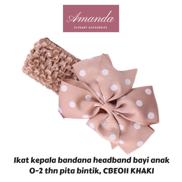 Foto Produk Ikat kepala bandana headband bayi anak 0-2 thn polkadot CBE 11 warna dari HAND BOUQUET AMANDA