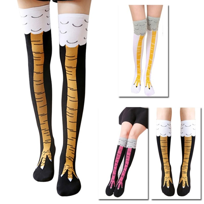 High Quality Creative Chicken Women Over the Knee Socks Cartoon Cotton
