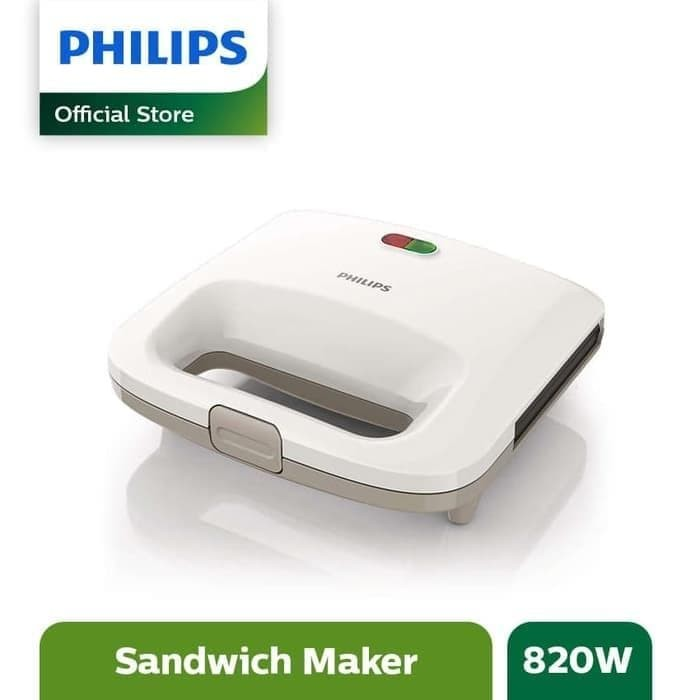 PHILIPS HD 2393 Sandwich Toaster HD2393 Pemanggang Roti - Putih