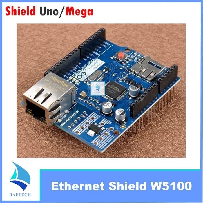 Foto Produk Ethernet Shield W5100 Arduino Uno R3 Mega 2560 dari RAFTECH