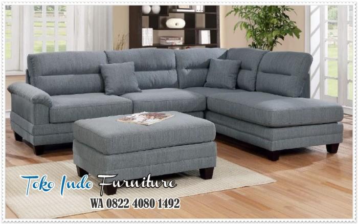 Jual Kursi Sofa Ruang Tamu Minimalis Sudut Harga Murah Navy Kab