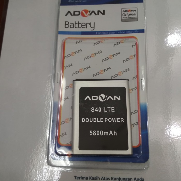 baterai ADVAN S40 LTE Double power Original battery