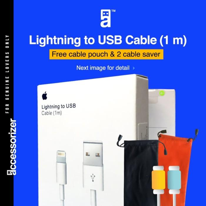 harga 100% original kabel data iphone 5 5s iphone 6 6s iphone 7 ipad mini Tokopedia.com