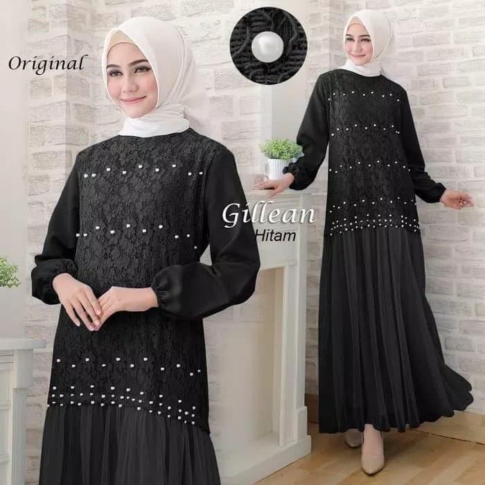 Jual Baju Busana Muslim Gamis Syari Gaun Pesta Dress Maxi Gillean