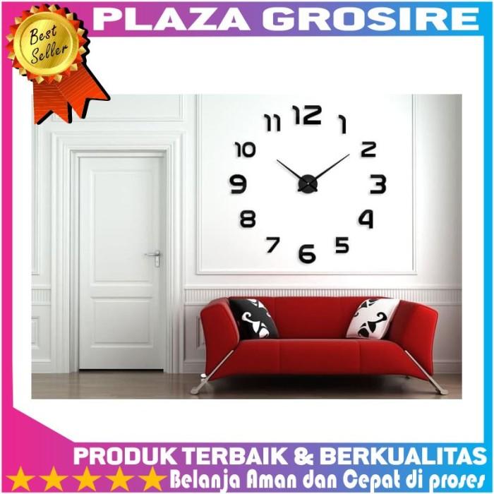 Jual 3D Giant Clock Jam Dinding Tempel Besar DIY Dekorasi 80 130cm ... d930014e27