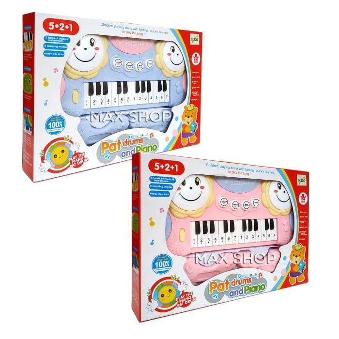 Foto Produk Pat Drums and Piano / Mainan Alat Musik Anak / Musical Instrument dari MAXSHOP-ONLINE