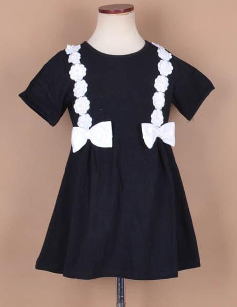 Jual Dress Hitam Anak Perempuan Gaun Anak Cewe Warna Hitam Putih