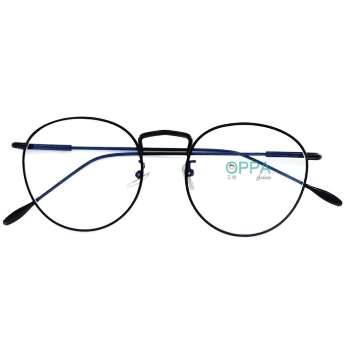 Harga Terbaru Frame Kacamata Korea Pria Wanita OPPA OP03 FBL Hitam ... d4fccd5b2f