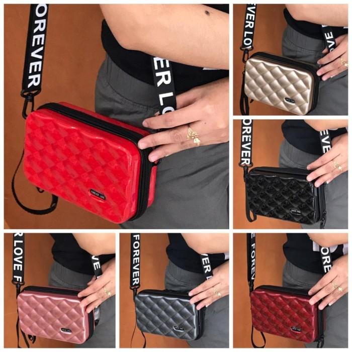 Mini Koper Bag Import 3038 DEN TAS SELEMPANG IMPORT - Merah Muda
