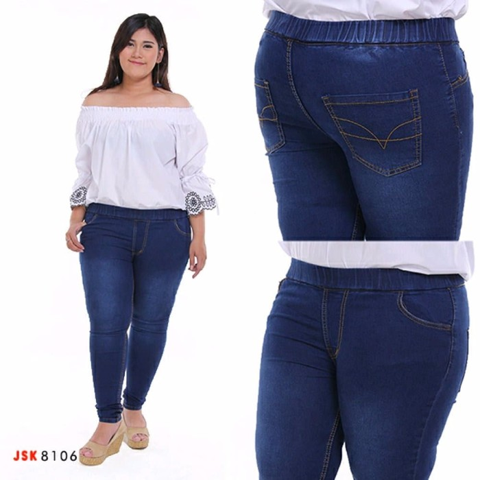 Jual Terbaru Celana Legging Pinggang Karet Jeans Jumbo Wanita Size 35 38 Kab Bandung Nona Cantik2000 Tokopedia
