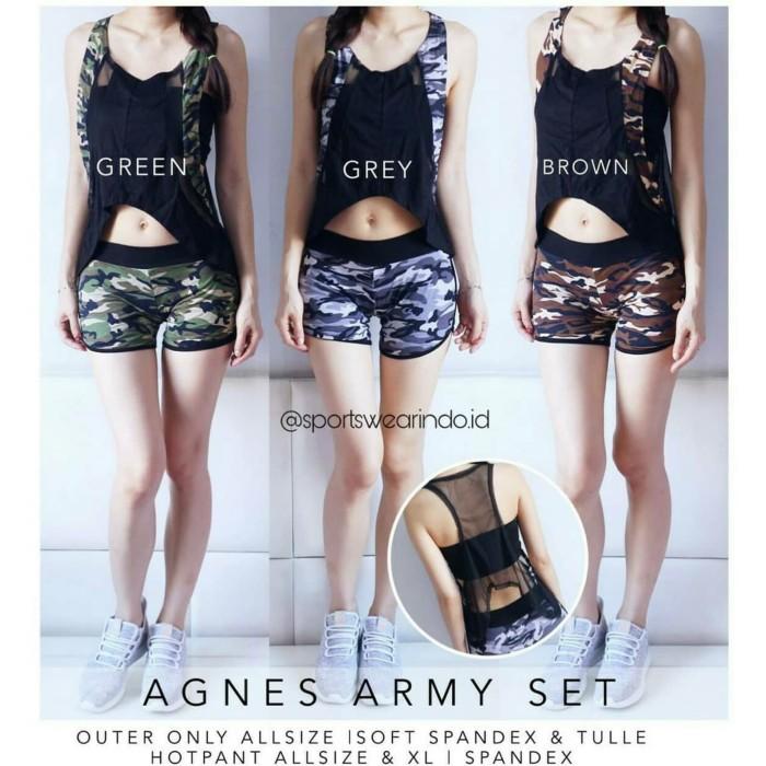 harga Agnes army set - setelan baju zumba original Tokopedia.com