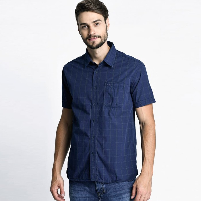... harga Cardinal jeans - kemeja - navy l Tokopedia.com 059f09391c