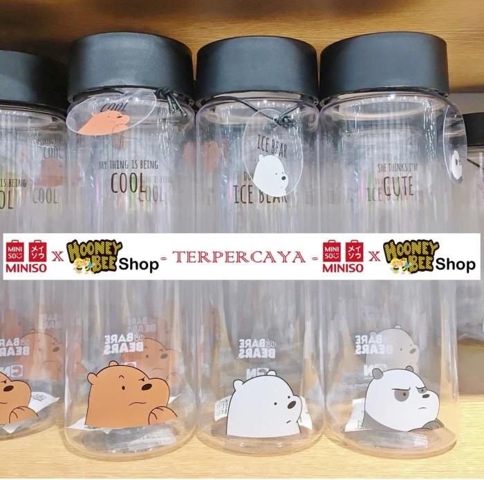 1ada8dd2fc Jual Japan Quality - Botol Minum We Bare Bears Miniso - Water Bottle ...