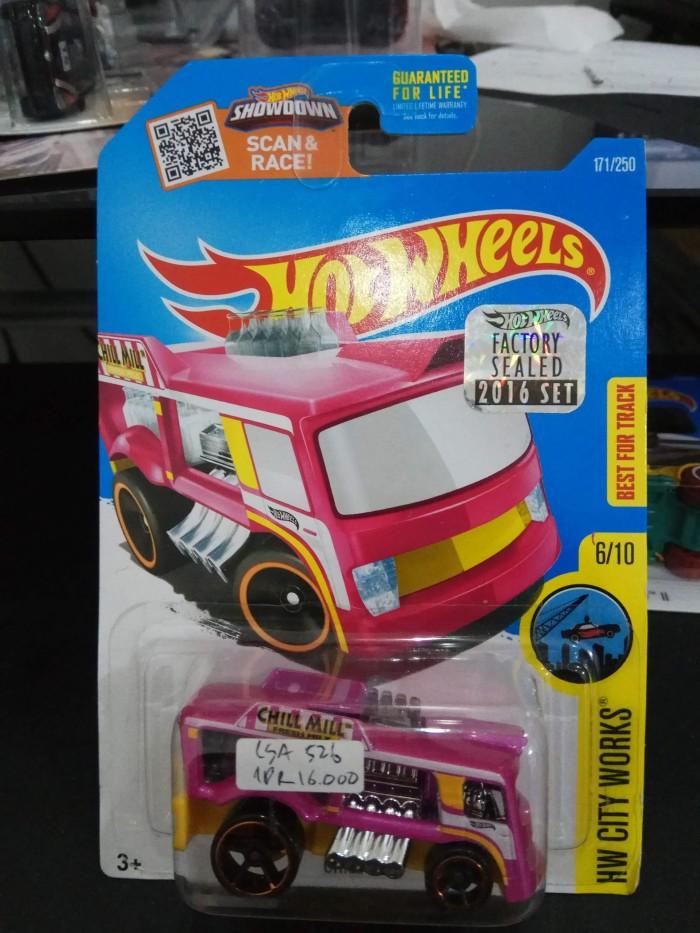 HOTWHEELS/HOT WHEELS-Chill Mill-HW City Works-Metal Flake Pink-DHW56