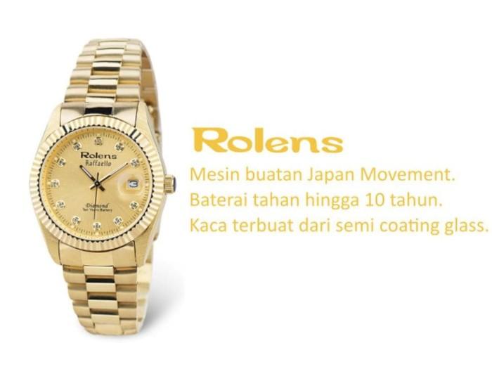 Jual Terpopuler Jam Tangan Rolens All Gold Original - Couple - Bonus ... dd9331d216
