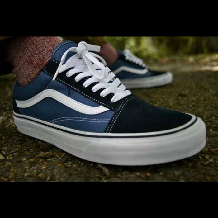 fb26ce381bdcdd Jual Sepatu Vans Old Skool Blue Navy Premium Quality - DKI Jakarta ...