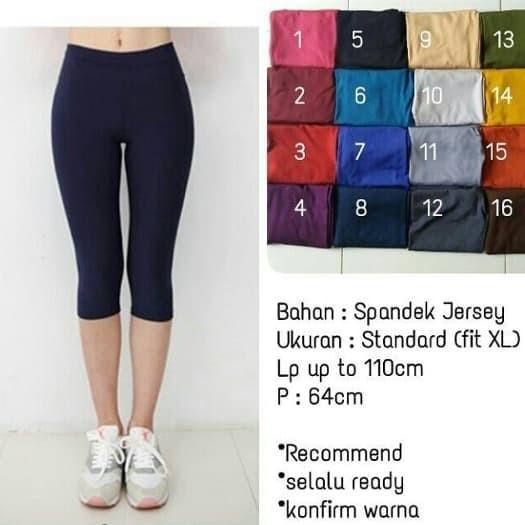 Jual Celana Legging Pendek Bahan Spandek Jersey Allsize Fit To L Putih Kota Depok Yusuf Store Tokopedia