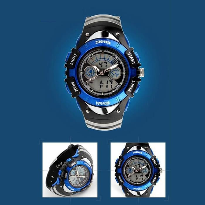 Jual 3854jam tangan anak laki laki original anti air 0998 black blue ... 9fafad481e