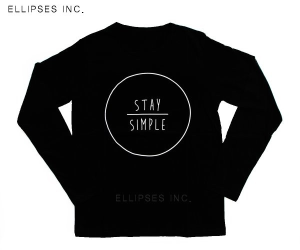 Tumblr Tee / T-Shirt / Kaos Wanita Lengan Panjang Stay Simple Warna