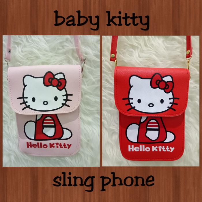 Foto Produk *BABYKITTY* SLING PHONE HK SLINGPHONE SLING BAG HP TAS HELLO KITTY dari Marie Shop