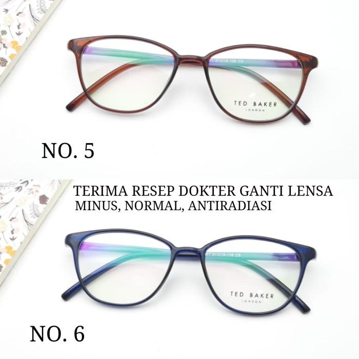 Jual kacamata frame wanita tedbaker model cat eye paket lensa minus ... 0398472c83