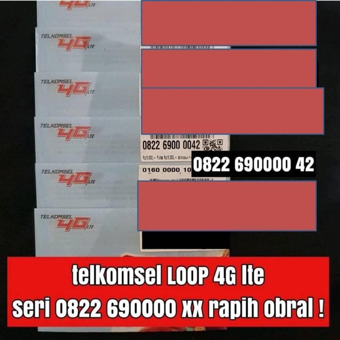 nomor cantik kartu perdana telkomsel loop 4G ready best series rapih
