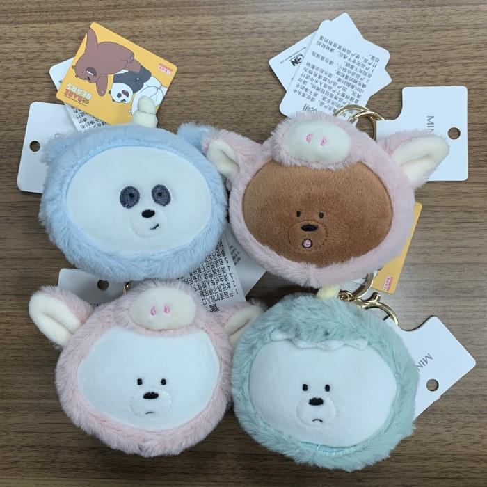 Foto Produk READY STOCK-Gantungan kunci/Keychain We Bare Bear WBB Boneka Costume - Icebear Pig dari kelstall