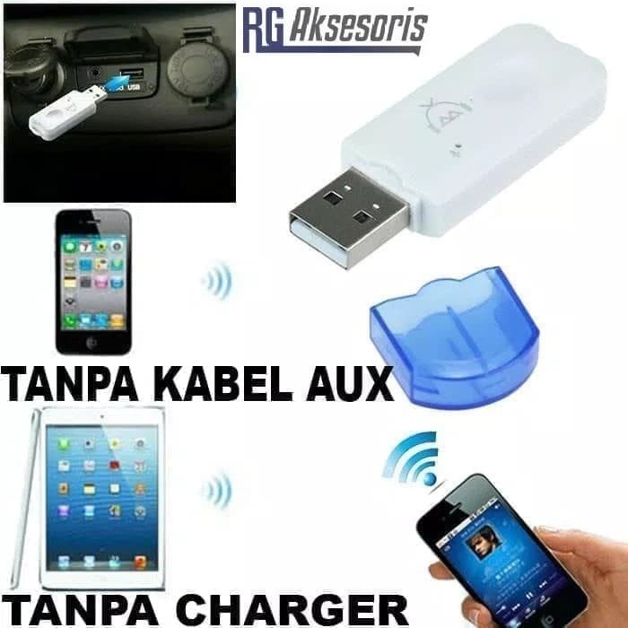 AUX-in Bluetooth Wireless Receiver Adapter Dongle for Car Stereo Audio Speaker^P