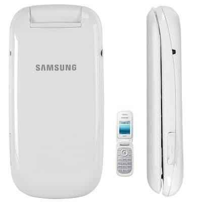 Samsung Caramel GT- E1272 - Flip Phone - New - Dual SIM - Putih
