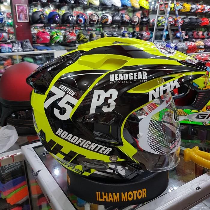 291fa5d3 Jual nhk predator crypton motif 75 yellow black - Ilham helmet ...