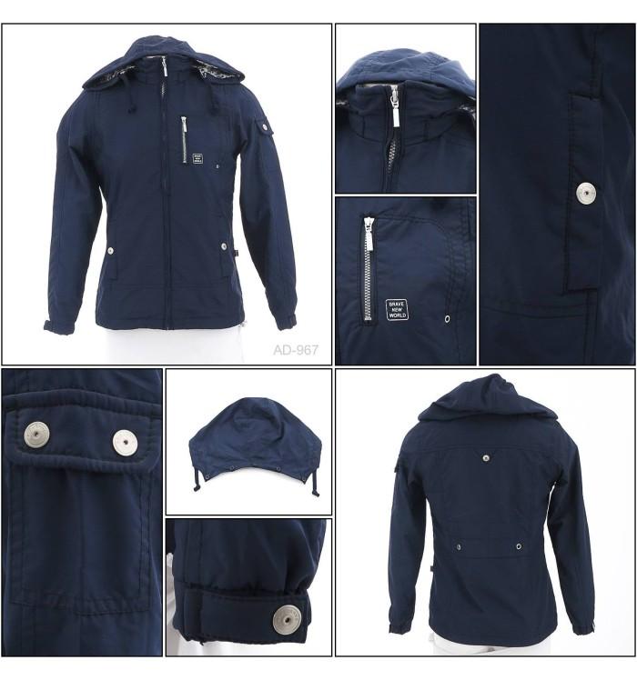 harga [070000967] jaket parasit cewek warna biru tua size s-2xl ako Tokopedia.com