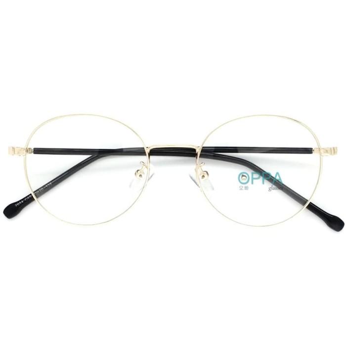 Frame kacamata korea pria wanita oppa op45 gd gold bulat minus 3ae8b240b5