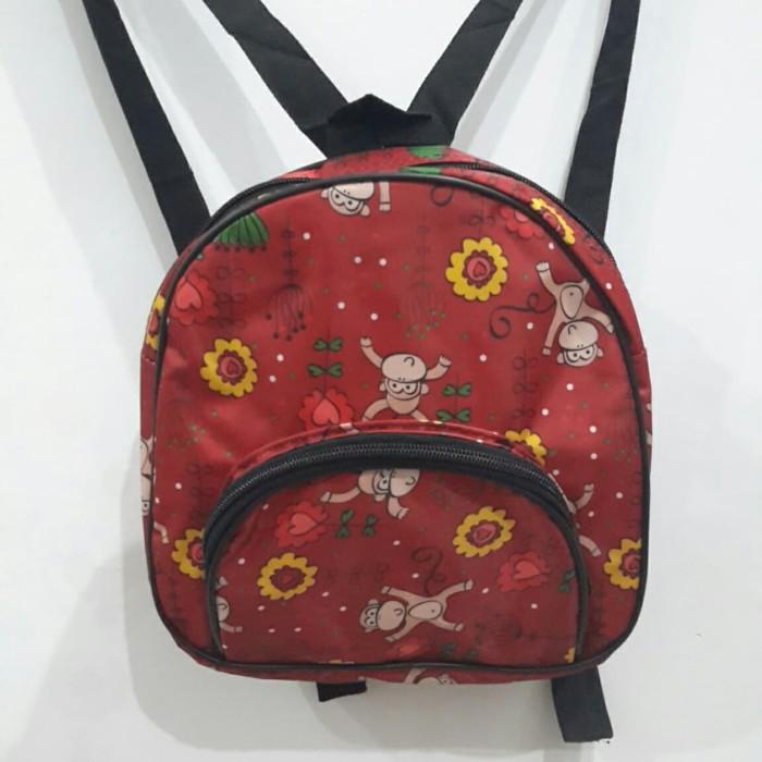 Foto Produk Tas Ransel mini polos fashion cewek / wanita murah hemat - Merah Muda dari Winston Abadi Jaya