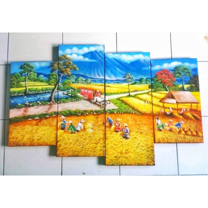 520 Koleksi Lukisan Pemandangan Sawah Pedesaan Gratis Terbaik